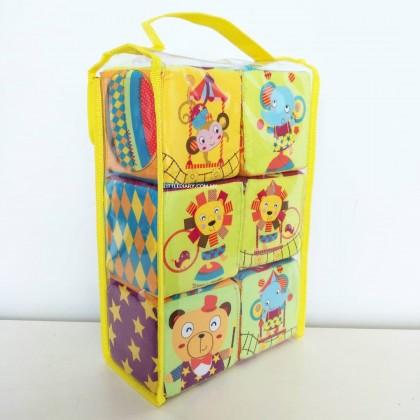 Simple Dimple My 1st Toy – 6pcs Block Set Circus Adventures