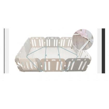 GGUMBI Baby Room Set - World Guard Grey (Basic Guard + Premium Playmat)