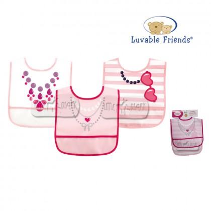 Luvable Friends 3pcs PEVA Bib 02349 - Necklace