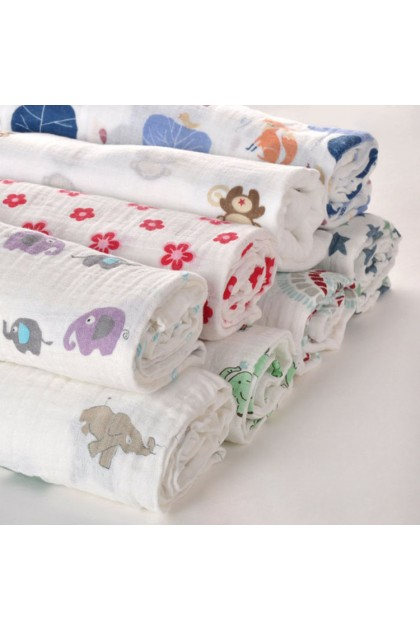 Little Diary Baby Muslin Swaddle Wrap / Nursing / Stroller Cover