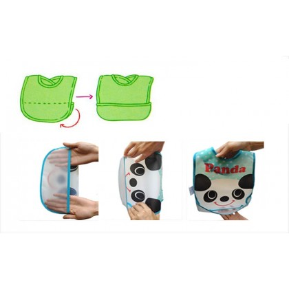 Baby Waterproof BIB with Rice Pocket - Bear
