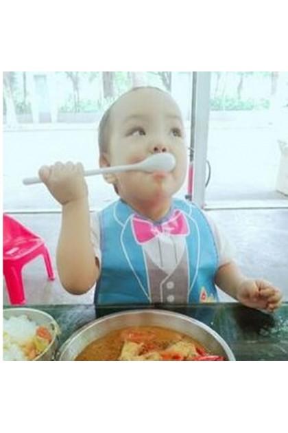 Baby Waterproof BIB with Rice Pocket - Panda