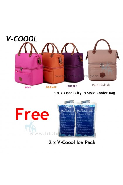 V-coool City In Style Cooler Bag Free 2pcs Ice Pack