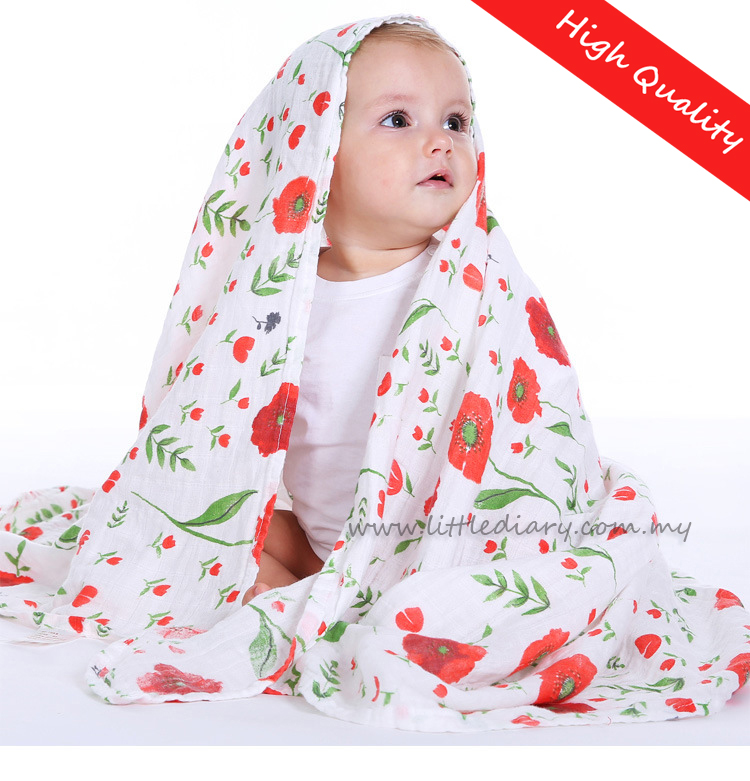 High Quality Baby Muslin Swaddle Wrap / Nursing / Stroller Cover