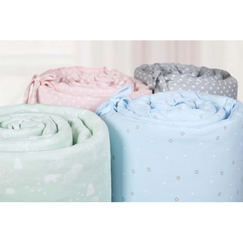 Comfy Baby - Cot Bumper 2pcs Set - Green Bear